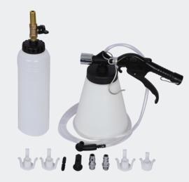 Pneumatisch remvloeistof systeem vacuüm set 1 liter
