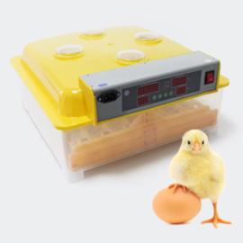 Broedmachine kweekmachine geel 48 eieren met kijkvensters