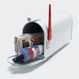 US Mailbox Amerikaans Design wit losse brievenbus