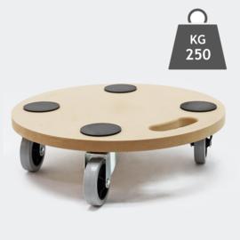 Meubelroller meubelkar rolplateau rond 380mm 250kg