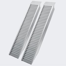 Laadbrug oprijplaat draagbaar aluminium 2 stuks 160cm tot 4050kg