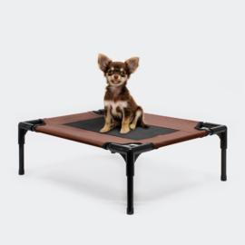 Hondenbed verhoogd ligbed bruin small tot 15kg