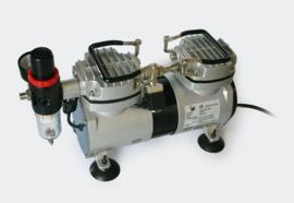 Airbrush-compressor AS19 twee stappen-schakelaar met 2 cilinders