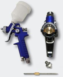 HVLP-spuitpistool H2000P mondstuk van 0,5 en 0,8mm