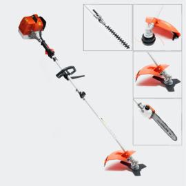 Benzine multi tool tuin heggenschaar kettingzaag-bosmaaier 5 in 1