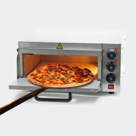 Pizza oven RVS 2000W met vuursteen voor pizza en gebak