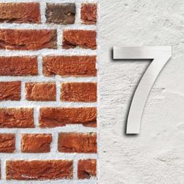 Huisnummer 7 Arial rvs/inox 3D 20cm weerbestendig