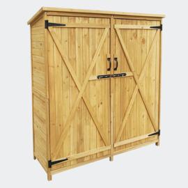 Tuinopberger dubbele deur vurenhout