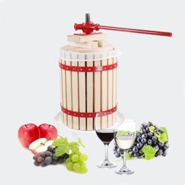 Fruitpers hout 6 liter appelwijn cider incl. 1 pulpdoek