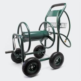 Haspelwagen slanghaspel tuinslang groen tot 50m slang 19mm