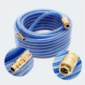 Persluchtslang 10m PVC compressor slang met snelkoppeling