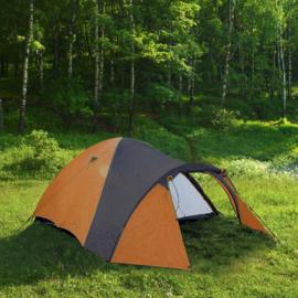 Iglo campingtent 3 personen oranje-zwart