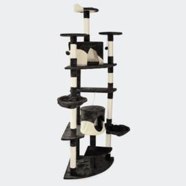 Krabpaal krabboom kattenboom zwart-wit 200cm