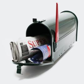 US Mailbox Amerikaans Design groen losse brievenbus