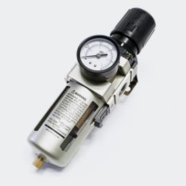 """Drukregelaar perslucht met filter en manometer 1,2"""""""