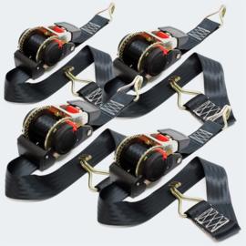 Automatisch spanband 4 stuks met ratel 1,8mx50mm 750 daN