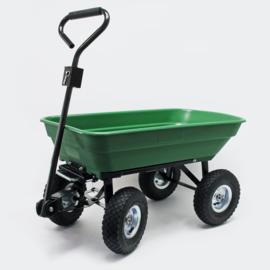 Kiepwagen tuinwagen kipper kruiwagen 125l groen