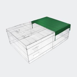 Konijnenren cavia ren met zonbescherming 183x122x60cm