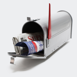 US Mailbox Amerikaans design zilver losse brievenbus