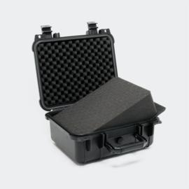 Opbergkoffer Hardcase zwart medium 35x29.5x15cm