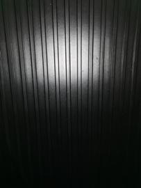 Brede Ribloper 3mm 120cm zwart per lopende meter