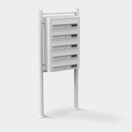 Vijfvoudige brievenbus staand model wit