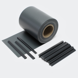 Balkondoek hekdoek privacydoek 35 meter 450 g/m² zwart