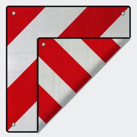 Achterwaarschuwingsbord 500x500mm rood wit Spanje/Italië