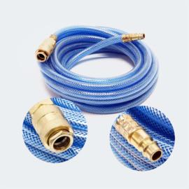 Persluchtslang 5m PVC compressor slang met snelkoppeling