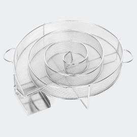 Koude rookgenerator RVS BBQ-rookbak Ø 16cm x 4,5 cm
