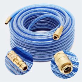 Persluchtslang 20m PVC compressor slang met snelkoppeling