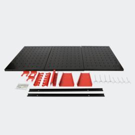 Opberger gereedschap 3 geperforeerde panelen en 17 haken 120x60cm