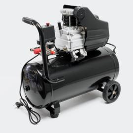 Luchtcompressor 50 liter tank 8 bar 1100W dubbele aansluiting