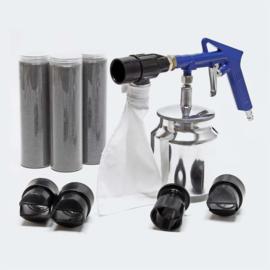 Zandstraalpistool perslucht luchtcompressor complete set
