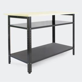 Werktafel metaalgrijs 120x60x95cm