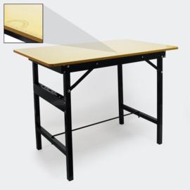 Opklapbare werktafel met liniaal en gradenboog 100 x 60 cm