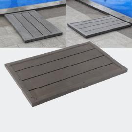Buitendouche vloerplaat vloerelement Antislip 101x63x5.5 cm bruin
