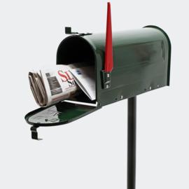 US Mailbox brievenbus Amerikaans Design groen met staander