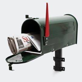 US Mailbox Brievenbus Amerikaans Design groen muurbevestiging