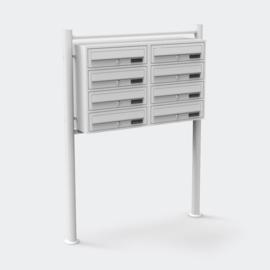 Achtvoudige brievenbus staand model wit