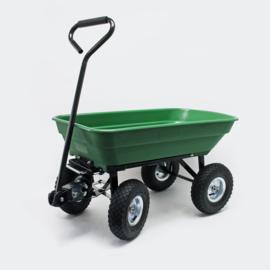 Kiepwagen tuinwagen kipper kruiwagen 75l groen