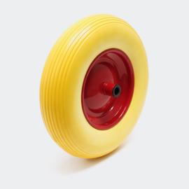 PU-wiel kruiwagenwiel formaat 3.50-8 massief rubber