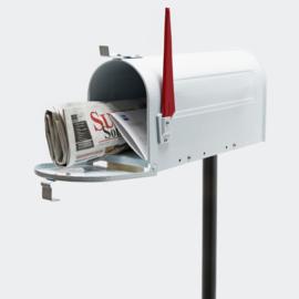 US Mailbox brievenbus Amerikaans Design wit met staander