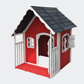 Houten speelhuis voor kinderen voor tuin en terras rood
