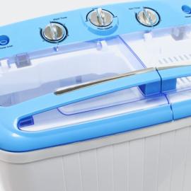 Mini wasmachine camping 5,2 kg normaal-fijne was en centrifuge
