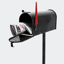US Mailbox brievenbus Amerikaans Design zwart met staander