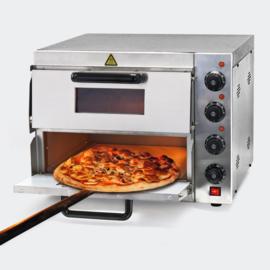 Pizza oven RVS 3000W dubbel met vuursteen en 2 ovens