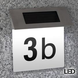Huisnummer solar LED verlichting wit incl. cijfers/letters