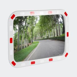 Verkeersspiegel veiligheidsspiegel uitrit convex kijkhoek 40x60cm