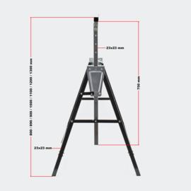 Zaagbok set opvouwbaar In hoogte verstelbaar 2 stuks